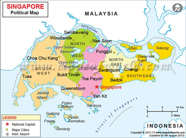 map asia singapore
