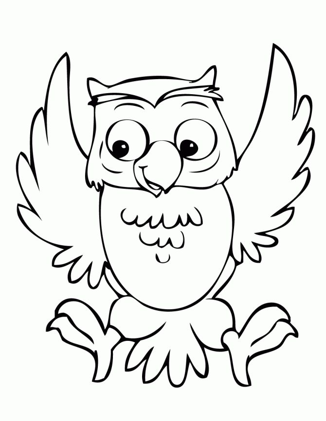 cute printable owl coloring pages for kids - Cute Owl Printable Coloring Pages