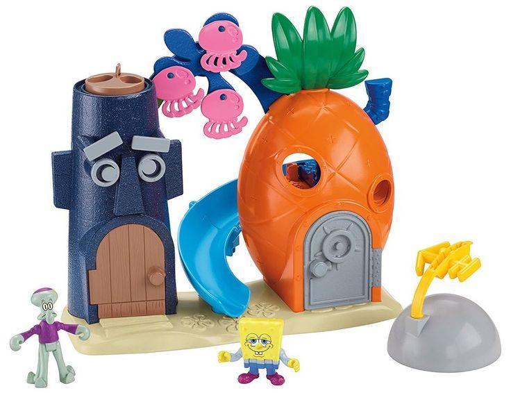 Fisher-Price Imaginext Nickelodeon SpongeBob SquarePants Bikini Bottom Playset #FisherPrice