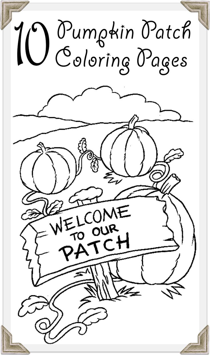 Top 10 Pumpkin Patch Coloring Pages Your Toddler Will Love To Do