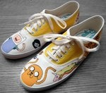 Adventure Time Shoes 2 II by ~Misfit-Mistress on deviantART