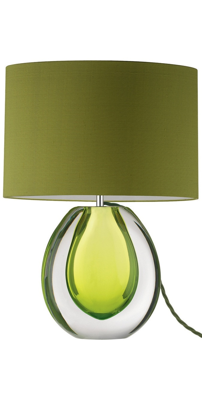Modern glass table lamps - Table Lamps Designer Modern Yew Green Art Glass Table Lamp So Beautiful One