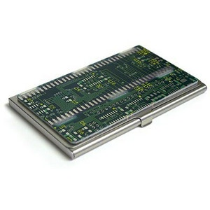 ThinkGeek :: Circuit Board Business Card Case