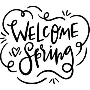 Silhouette Design Store - View Design #186760: welcome spring