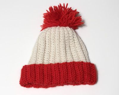 wheres waldo inspire hat red white wool