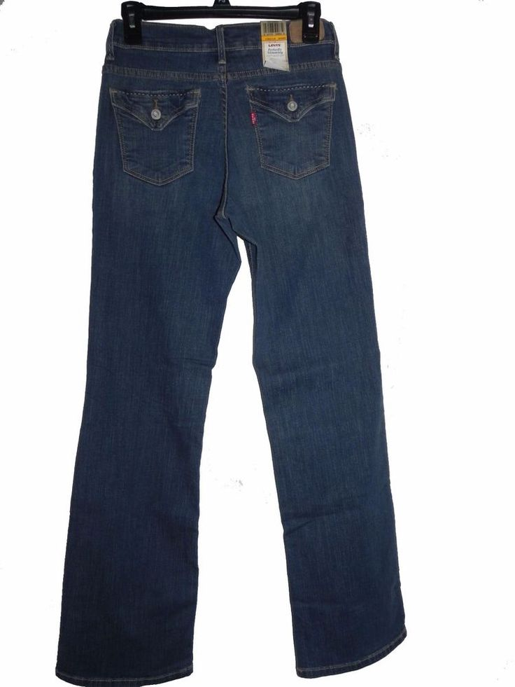 LEVI'S 512 PERFECTLY SLIMMING  FIGURE-ENHANCED BOOT CUT JEANS 10M, Cot/Poly/Span #Levis #BootCut