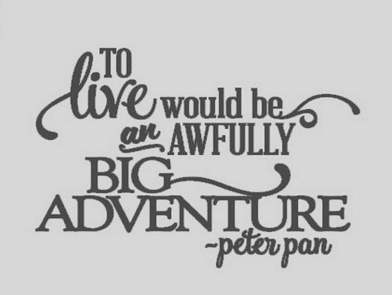 Peter Pan Quote Vinyl Wall Lettering   Quote by MorningWoodStudio, $10.00