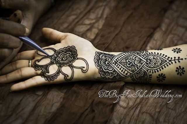 getting mehndi done by blacksapphire, via Flickr