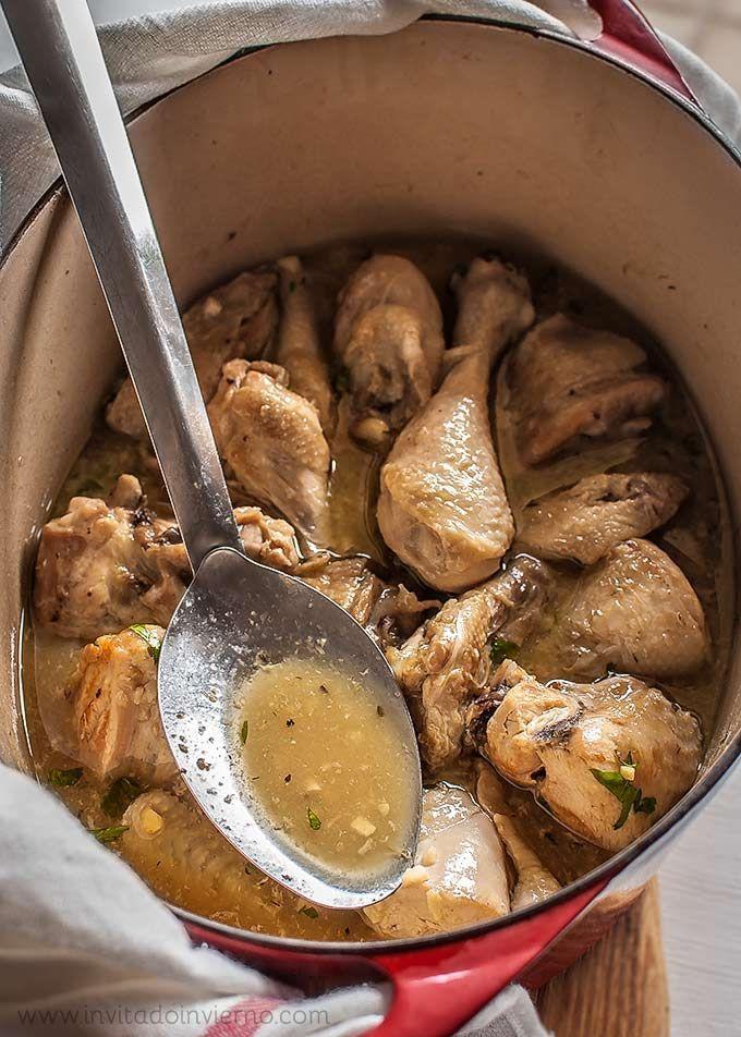 Pollo al ajillo, receta tradicional