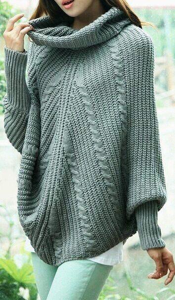 """12 комфортных стильных образов 2018 со свитерами """"оверсайз"""""""