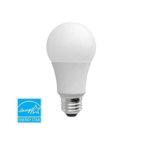 LED 9W / 60W Replacement A19 Warm White (2700K) Dimmable Light Bulb, Energy Star Certified