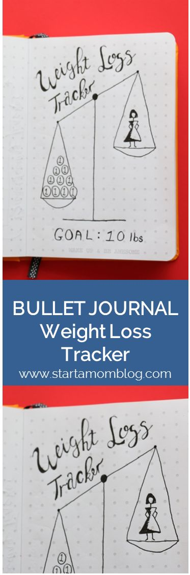 Bullet Journal Ideas Weight Loss Tracker