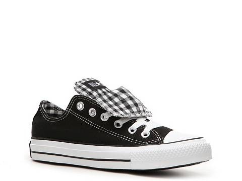 Converse Women's Double Tongue Gingham Print Sneaker Women's Converse Converse Featured Brands - DSW