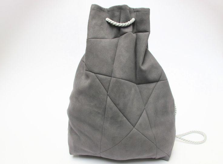 geometrischer rucksack  grau von St. Anderswo auf DaWanda.com