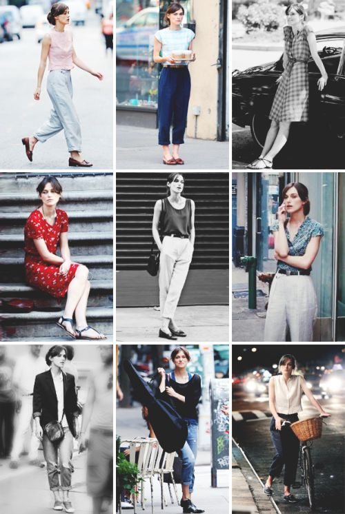 "Fashion inspiration (movie edition): Keira Knightley as Greta in ""Begin Again"""