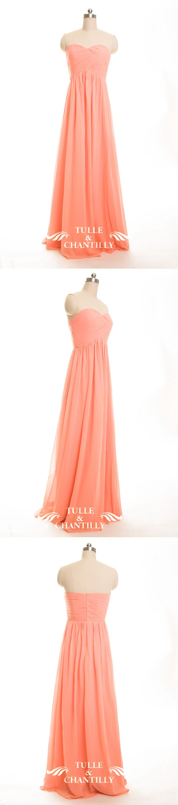 soap orange chiffon bridesmaid dresses with strapless sweetheart