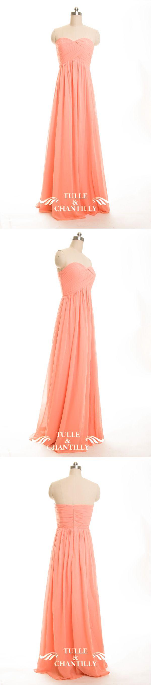 soap orange chiffon bridesmaid dresses with strapless sweetheart