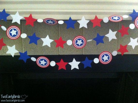 Superhero Garland by TwoEarlyBirds on Etsy