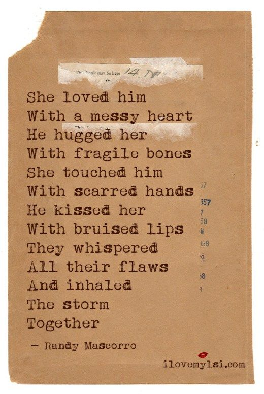 she loved him with a messy heart