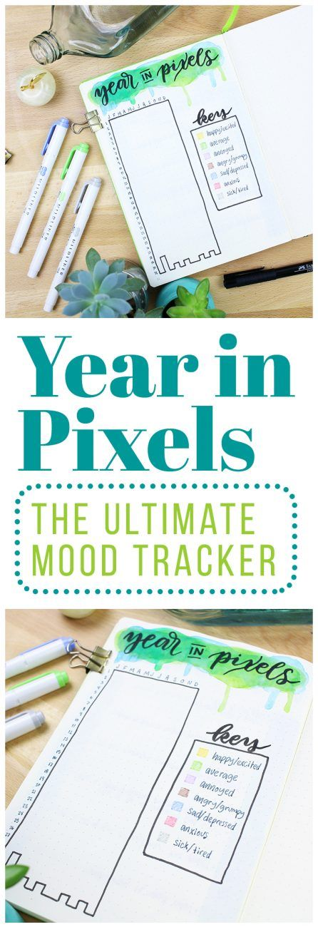 Knowledge is key to changing your life because you can't know what to change or how to make the change if you're working from incomplete data. That's why I decided to create the ultimate mood tracker, a Year in Pixels chart so I can have a bird's eye view of my moods and emotions! via @LittleCoffeeFox