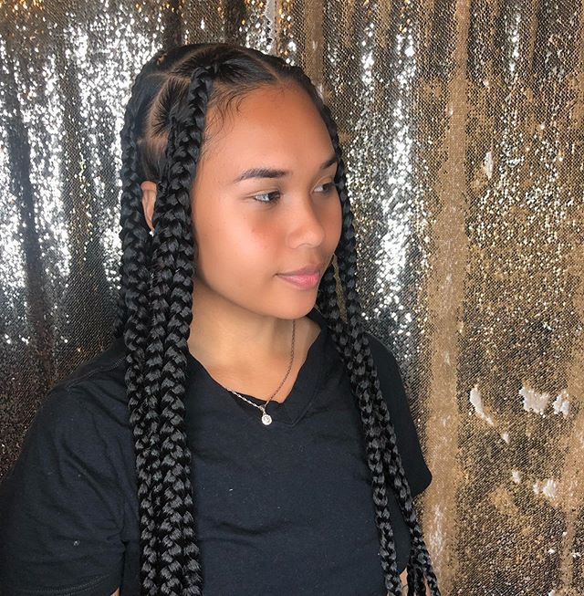 Pin By Astro Girl On Knotless Braids In 2021 Hair Styles Beautiful Braids Kids Hairstyles