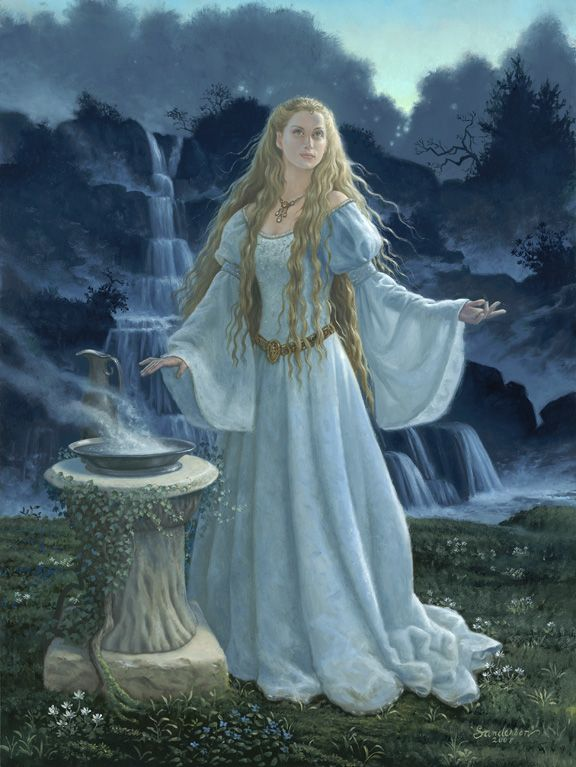 OracleGaladriel, Tolkien, The Artists, Fantasy Art, Book, Сказочные Иллюстрации, Ruth Sanderson, Middle Earth, Lord