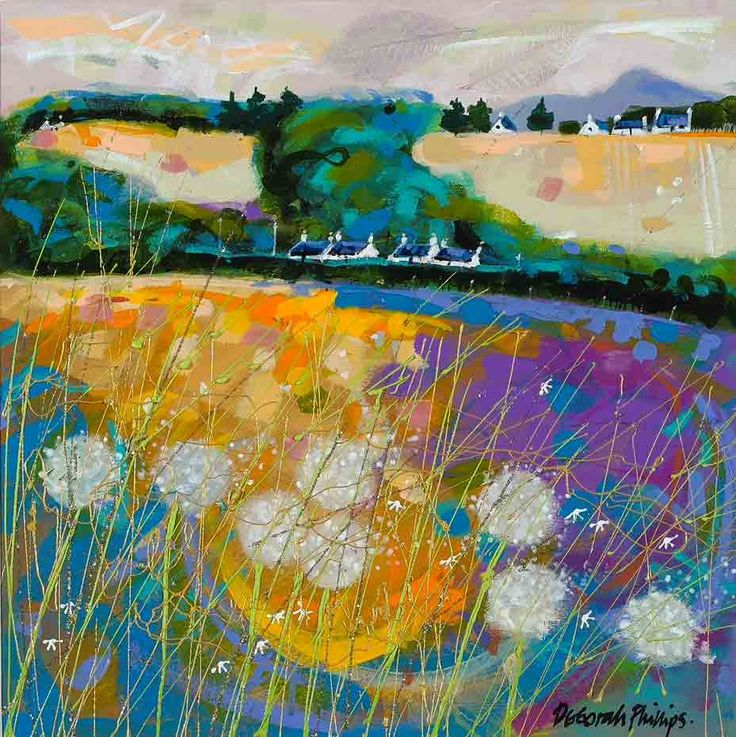 Butterybank Cottages by Deborah Phillips. Click on Print for Larger Image