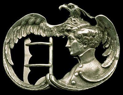 Napoleon II called L'Aiglon (eaglet) belt buckle