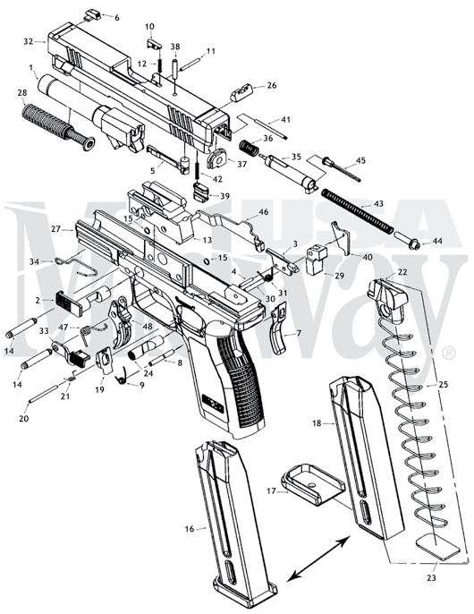 Diagram Of A Springfield Xd9