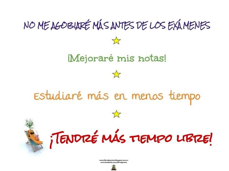 ¡Motívate! para empezar nuestro plan de estudio, ten siempre presente tus objetivos para mantener el proceso y llegar a ver los resultados positivos  librodepetete.blogspot.com.es/2013/02/el-habito-hace-al-monje.html