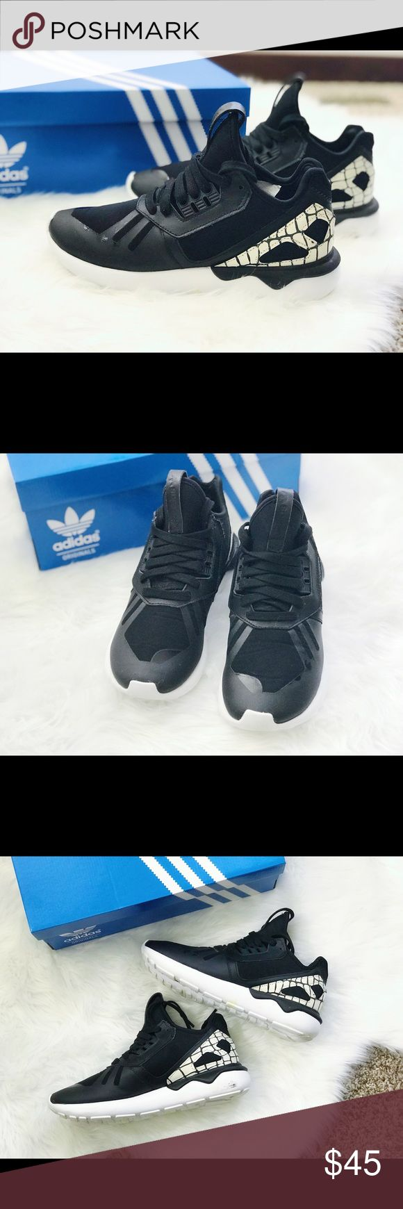 Adidas Originals Tubular Runner Women Super comfy and stylish sneaker Lightly worn in very good condition A few flaws shown in pics Size women's 6 adidas Shoes Athletic Shoes