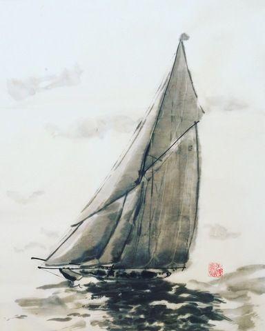 Картины с яхтами