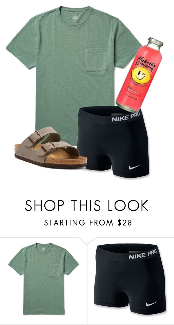 """You're gonna be popular"" by so-preppy ❤ liked on Polyvore featuring J.Crew, NIKE and Birkenstock"