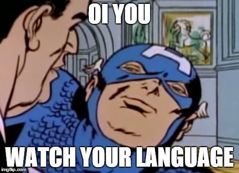 """Did anyone acknowledge that cap just said 'language'."""