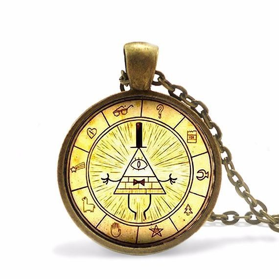 $7.99 Gravity Falls Bill Cipher Wheel Necklace