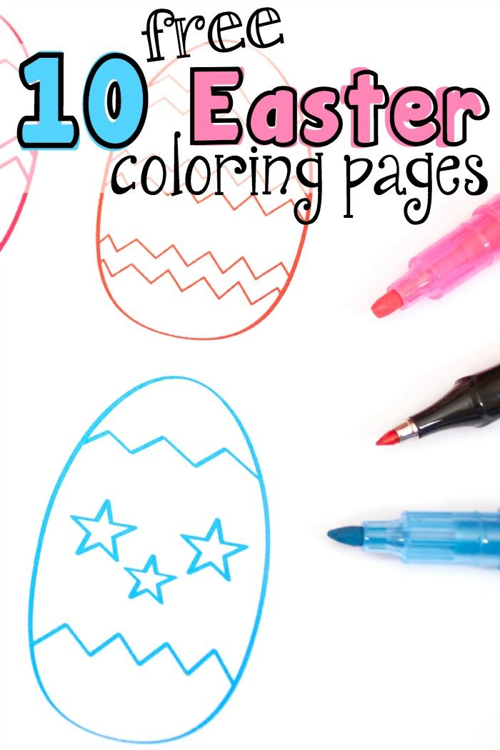 10 Free Easter coloring pages for your kids to color.