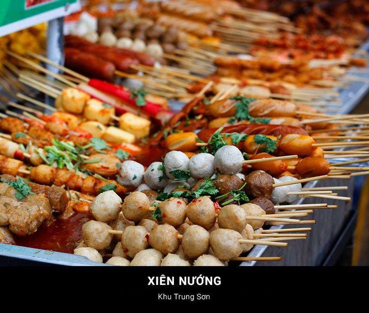 14. Grilles Skewers/kabobs   Xiên Nướng Http://hoianfoodtour.com. Vietnam  ReiseVietnamesische KücheHanoiStreetfoodIdeen ...