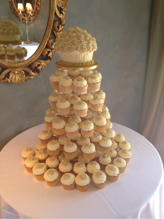 Bouqcake Cupcakes   Weddings  Wedding cupcake by bouqcake cupcakes   Cupcake bouquet