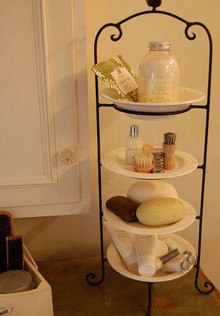 Bathroom Storage Ideas for Small Spaces - Plateful of Goodies - Click Pic for 42 DIY Bathroom Organization Ideas