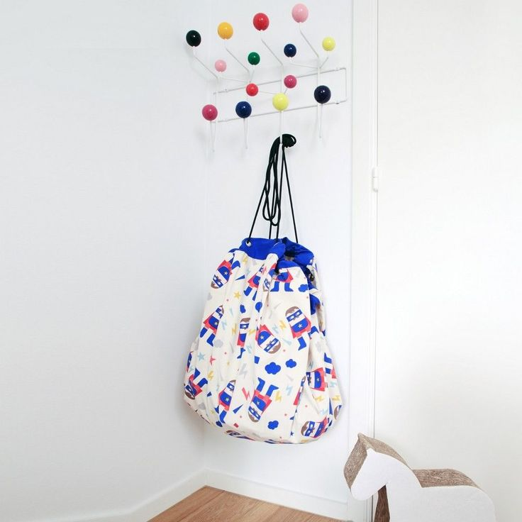 A must have for any little rooms that need a tidy !  Keep all their toys in one place with the Play And Go x My Name is Simone, Super Zero toy storage bag !  #playandgo
