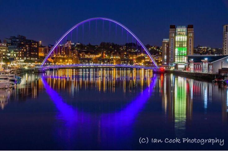 Gateshead Millennium Bridge from The Tyne Bridge