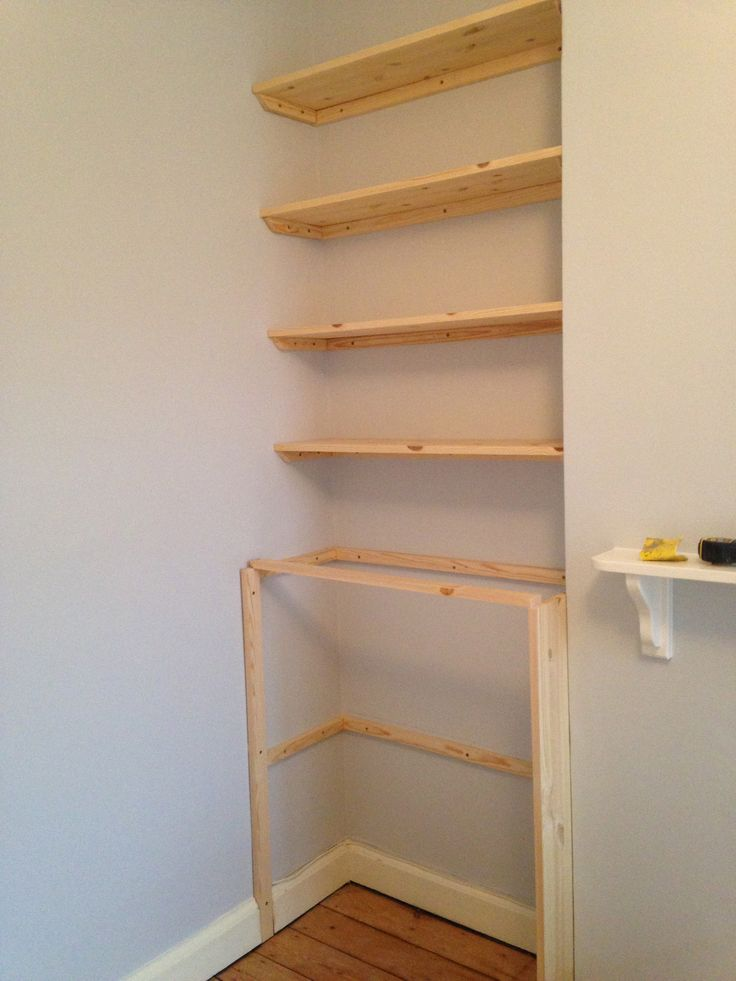 Alcove cupboard and shelving