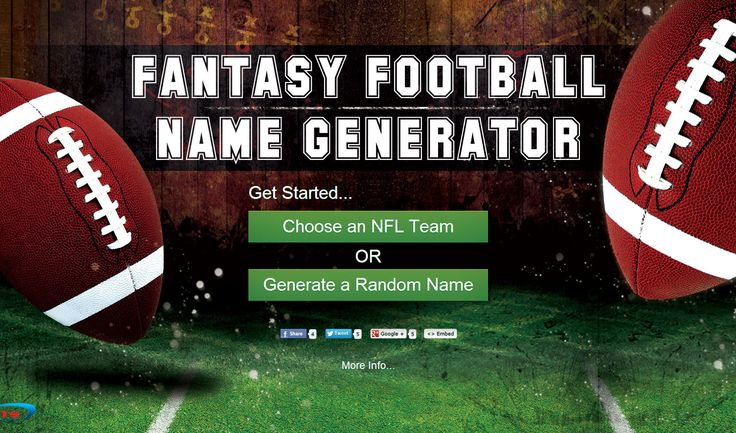 Fantasy Football Name Generator