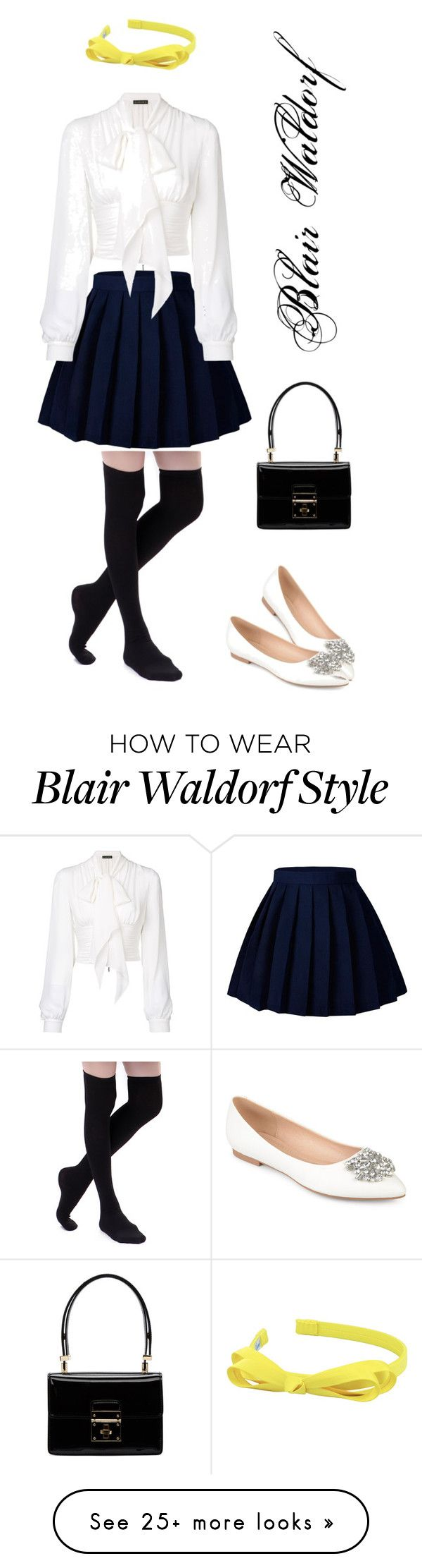 """""""Blair Waldorf"""" by ummialifah on Polyvore featuring Plein Sud, L. Erickson, Journee Collection and Dolce&Gabbana"""