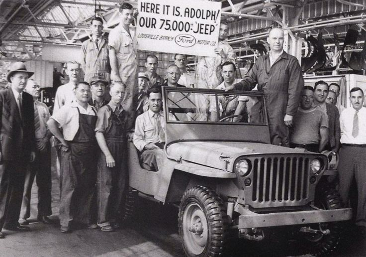 Jeep born for war ready for peace.