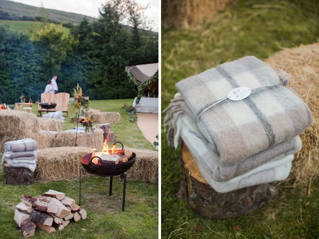 Outdoor tipi wedding