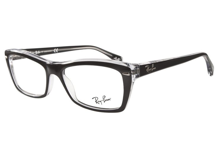 Ray Ban Eyeglasses Black And Clear