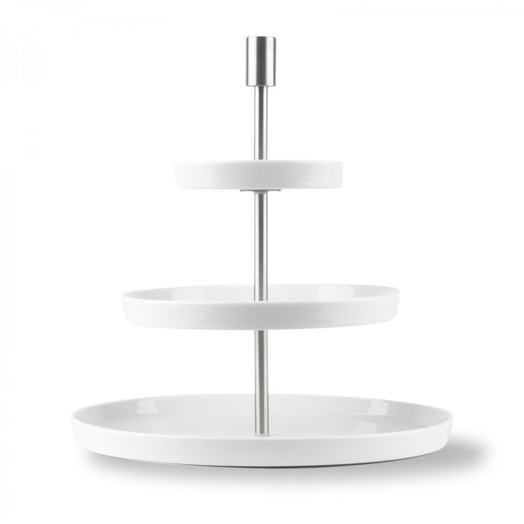 Loft 3-tier Cakestand. Designed by Martin Hunt, made by Thomas, Germany. David Mellor Design #cake #tableware