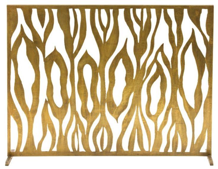 Gina Fireplace Screen: Beach Decor, Coastal Home Decor, Nautical Decor, Tropical Island Decor & Beach Cottage Furnishings