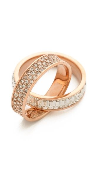 michael kors pave intertwined baguette ring.